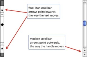 Xerox Star and Modern Mac OS X Scrollbars.