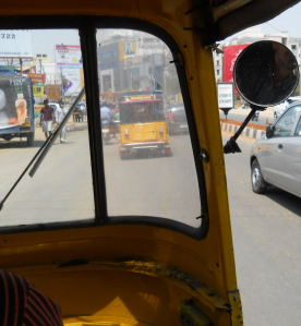 Looking from a Tuk-Tuk en Route Downtown